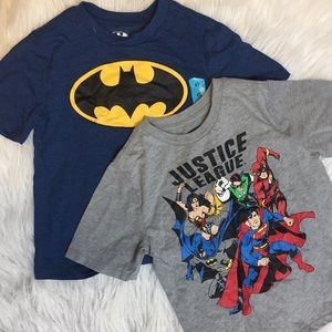 NEW Batman and Justice League Boys T-Shirts Lot 2